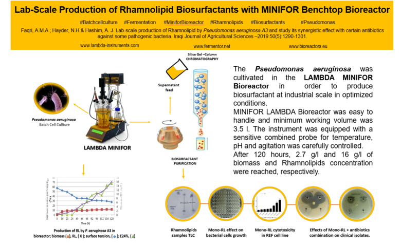 Lab-Scale Production of Rhamnolipid by Pseudomonas Aeruginosa A3 using MINIFOR LAMBDA Bioreactor