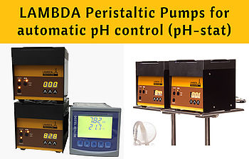 LAMBDA acid pump and base pump for automated pH control