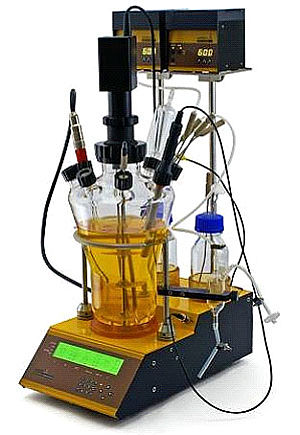 Laboratory scale bench-top fermentor-bioreactor LAMBDA MINIFOR - precise automatic gas flow regulation