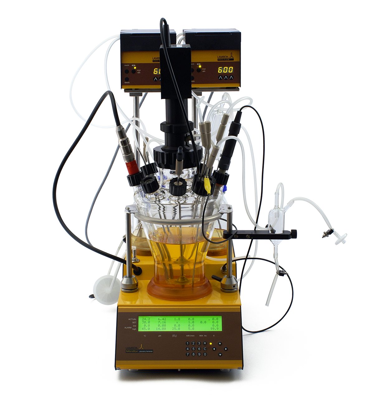 LAMBDA MINIFOR autoclavable bench-top fermentor-bioreactor advanced kit with1 L vessel volume